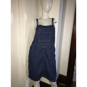 Denim overall Dress Sz XL